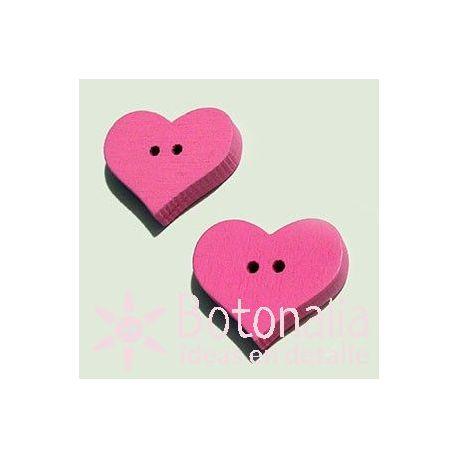 Heart Pink 20mm