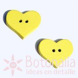 Corazón Amarillo 20 mm