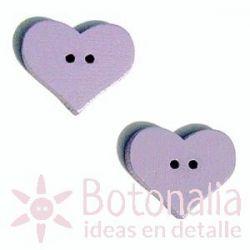 Heart Purple 20 mm