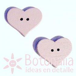 Corazón Rosa Suave 20 mm