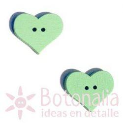 Corazón Verde Claro 20 mm