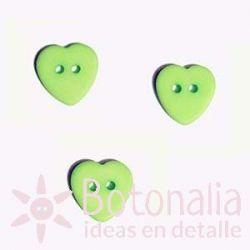 Heart green 12 mm