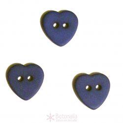 Heart dark blue 12 mm