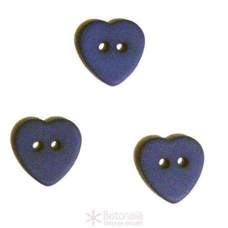 Corazón azul marino 12 mm