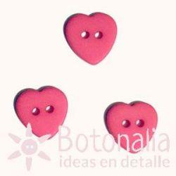 Corazón Rosa Fuerte 12 mm
