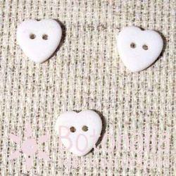 Heart White12 mm