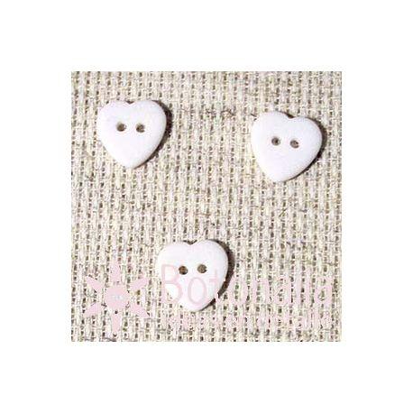 Corazón Blanco12 mm