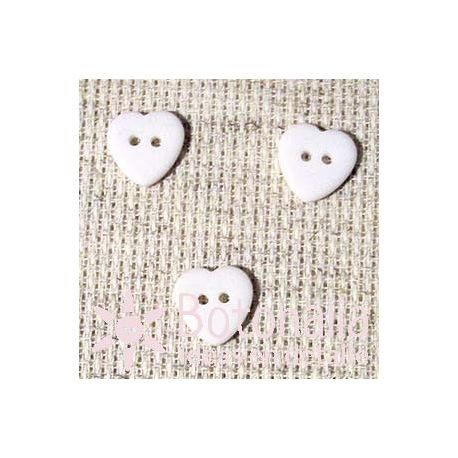 Heart White12 mm
