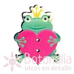 Little frog with heart 34 mm
