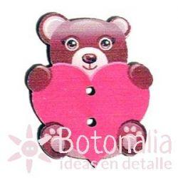 Little bear with heart 30 mm