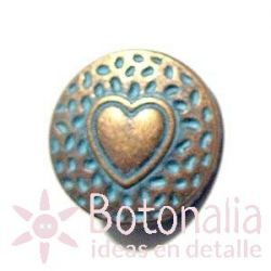Jeans button with heart 18 mm