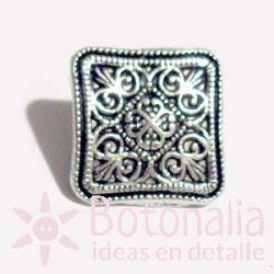 Silver square 18 mm