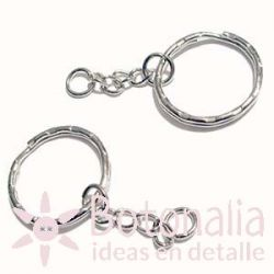 Silver ring for key ring 25 mm
