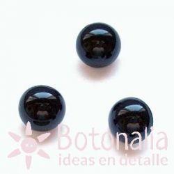 Black button 9 mm