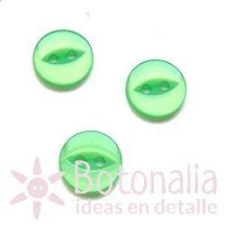 Botón verde 11 mm