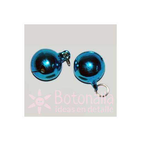 Blue jingle bell 18 mm