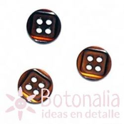 Botón clásico marrón 10mm
