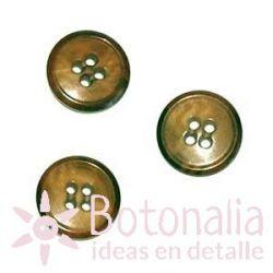 Botón marrón clásico 15 mm