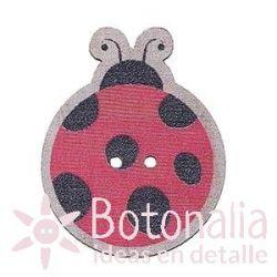 Painted wood ladybug 27 mm
