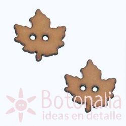Autumn leaf light brown 18 mm