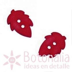 Autumn leaf dark red 18 mm