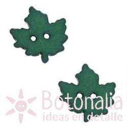 Autumn leaf dark green 18 mm
