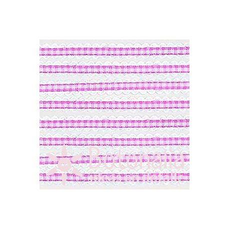 Pink gingham ribbon