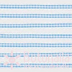 Blue gingham ribbon