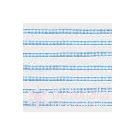 Blue gingham ribbon