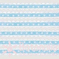 Blue polka dots ribbon