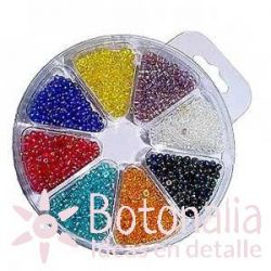 Beads assortment 2,5 mm - Iridescent