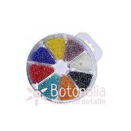 Beads assortment 2,5 mm - Iridescent