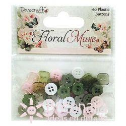 Button assortment - Floral Muse