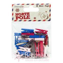 Mini pinzas North Pole