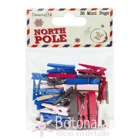 Mini pegs North Pole