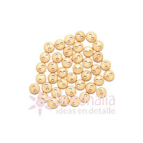 Buttons beige 6 mm