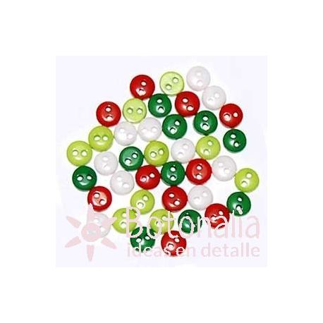 Christmas buttons 6 mm