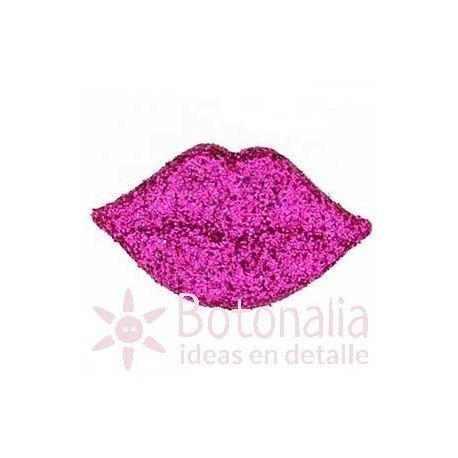 Pink glittery lips 20 mm