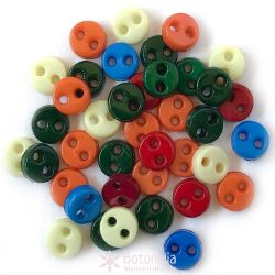 Micro buttons 4 mm - Primary colors
