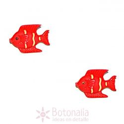 Red tropical fish 22 mm