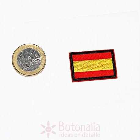 Bandera de España termoadhesiva pequeña