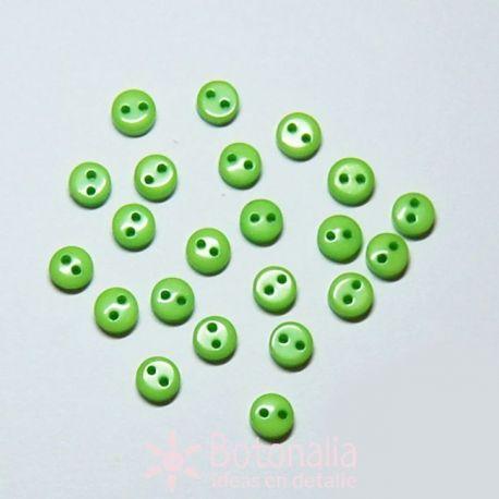 Botones verde claro 6mm (aprox. 20 unidades)