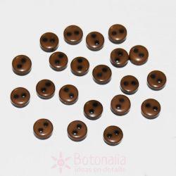 Botones marrones 6mm (aprox. 20 unidades)
