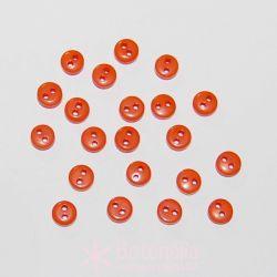 Botones naranja oscuro 6mm (aprox. 20 unidades)