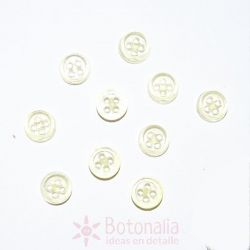 10 Mini botones transparentes - Amarillo