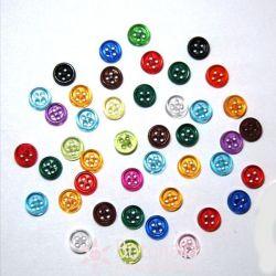 40 Transparent mini buttons - Assorted colors