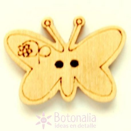Wooden butterfly 22mm