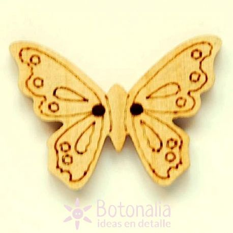 Wooden butterfly 24mm