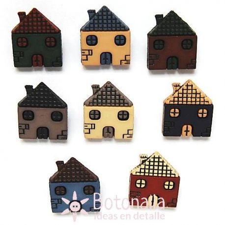 Dress-it-Up - Button Fun - Little Houses