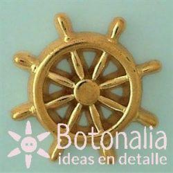 Golden boat steering wheel 32 mm
